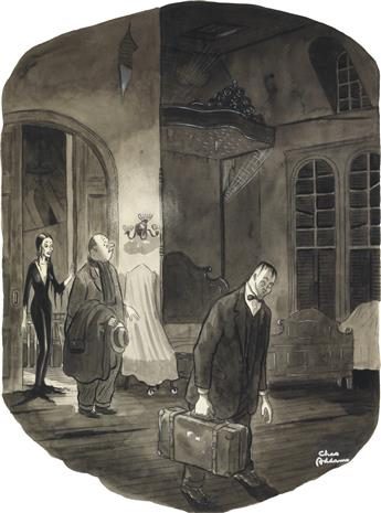 (THE NEW YORKER. ADDAMS FAMILY.)  CHARLES ADDAMS. This is your room. If you should need anything, just scream.