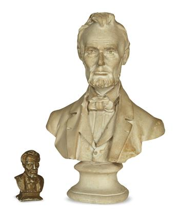 (SCULPTURE)-Group-of-6-small-early-Lincoln-busts