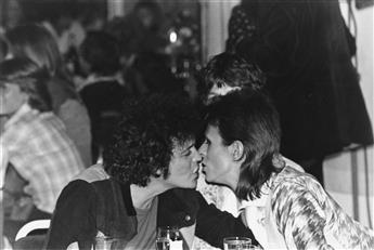 MICK ROCK (1948- ) Lou Reed and David Bowie at the