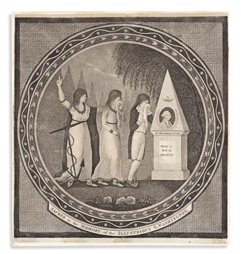 (WASHINGTON.) Thomas Clarke, engraver. Sacred to the Memory of the Illustrious G. Washington.