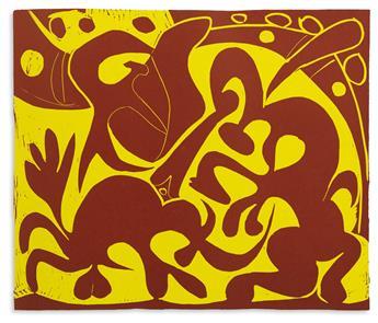 PICASSO-PABLO-Boeck-Wilhelm-Picasso-Linoleum-Cuts-Bacchanals-Women-Bulls--Bullfighters