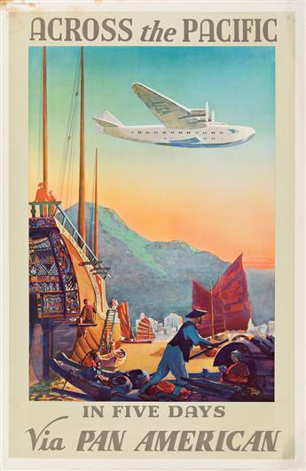 Paul George Lawler (Dates Unknown).  ACROSS THE PACIFIC / FIVE DAYS VIA PAN AMERICAN. 1938.