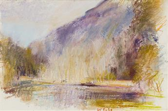 WOLF-KAHN-The-Merced-Looking-Upriver-Yosemite