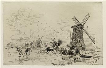 JOHAN-BARTHOLD-JONGKIND-Three-etchings