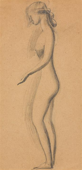 ELIE NADELMAN (1882-1946) Standing Nude in Profile.