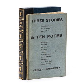 HEMINGWAY, ERNEST. Three Stories and Ten Poems.