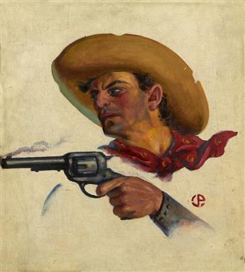 JOHN FALTER (ATTRIBUTED TO). Smoking Gun. [WESTERN