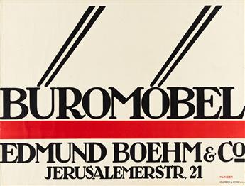 JULIUS KLINGER (1876-1942).  BÜROMÖBEL / EDMUND BOEHM & CO. 1910. 28¼x35 inches, 71¾x89 cm. Hollerbaum & Schmidt, Berlin.