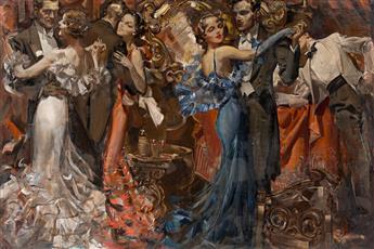 "ELBERT McGRAN JACKSON (1896-1962) ""Such a gay party at Barry Snayre's!..."" [COSMOPOLITAN]"