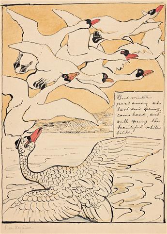 """THEODOOR VAN HOYTEMA (1863-1917) """"But winter past away at last…"""""""
