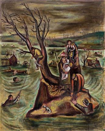 LEON BIBEL (1912-1995) The Flood.