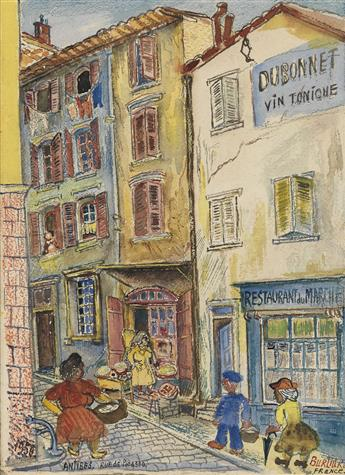 DAVID-BURLIUK-Antibes-Rue-de-Picasso