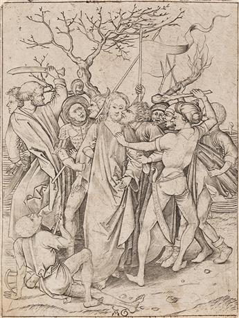 MASTER AG (after Schongauer) Three engravings