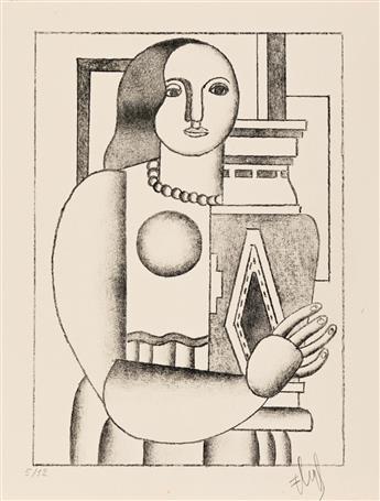 FERNAND LÉGER Femme Tenant un Vase.