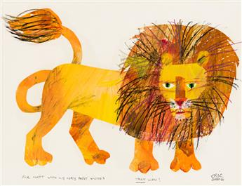 "ERIC CARLE (1929- ) ""THAT Lion!"" [CHILDRENS]"