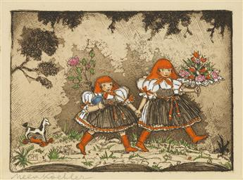 KOEHLER-MELA-Two-colored-etchings
