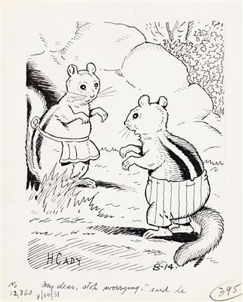 """HARRISON CADY (1877-1970) """"Nature Stories."""" Group of 7 illustrations. [CHILDRENS]"""