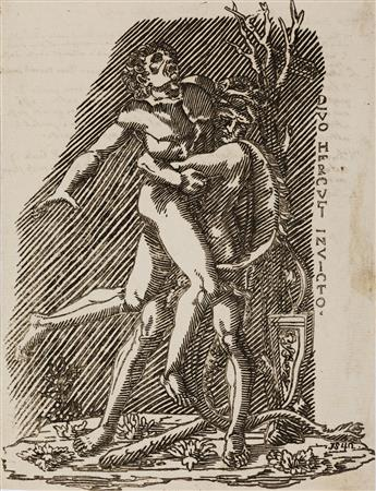 ITALIAN SCHOOL, 16TH CENTURY Hercules and Antaeus.