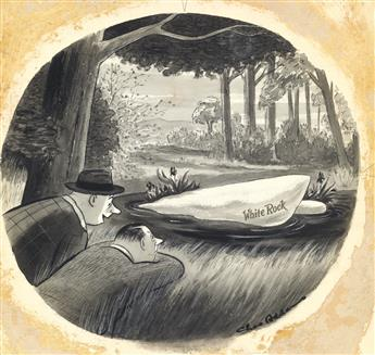 (THE NEW YORKER. WHITE ROCK.)  CHARLES ADDAMS. Just keep your shirt on. Youll see.