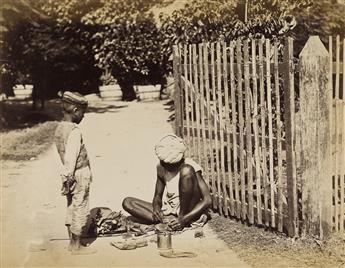 (INDIA)-Album-containing-105-exotic-photographs-including-many-marvelous-portraits-of-street-tradesmen-studio-portraits-of-native-wom