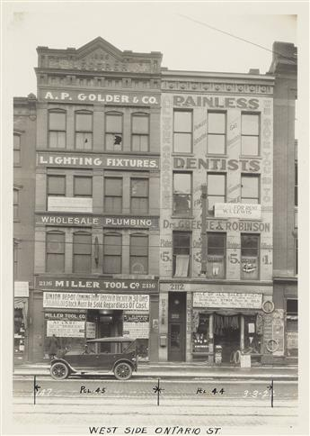 (CLEVELAND, OHIO) Approximately 169 professional street survey photographs of Cleveland, thoughtfully composed and inadvertently docume