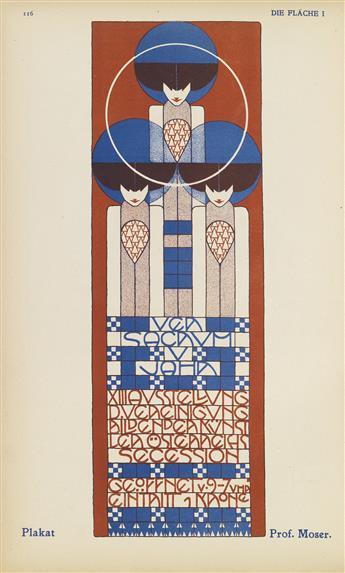 VARIOUS ARTISTS. DIE FLÄCHE 1. Bound volume 1. 1903. 12x8 inches, 31x21 cm. Schroll u. Co., Vienna.
