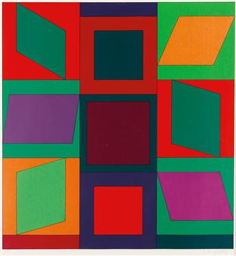 VICTOR-VASARELY-Two-color-screenprints