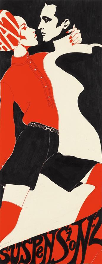 (FASHION.) ANTONIO LOPEZ. Darker Shade of Black * Hat Suspension-2.