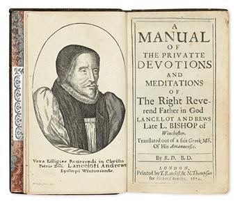 ANDREWES-LANCELOT-A-Manual-of-the-Privatte-Devotions-and-Meditations-1674-In-contemporary-morocco-by-one-of-the-Queens-binders