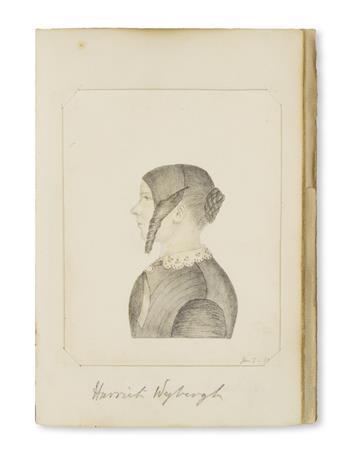 (SKETCHBOOK.) [Lawson, Maria]. Fine Victorian-era