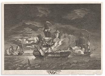 (AMERICAN REVOLUTION--1781.) J. Peltro, engraver; after Dodd. . . . Gallant Defence of Captn. Pearson