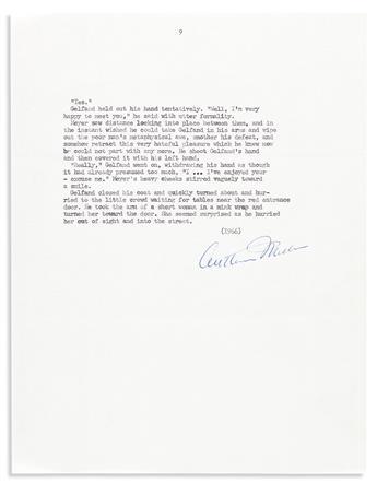 "MILLER, ARTHUR. Typescript Signed, his short story entitled ""Fame,"""