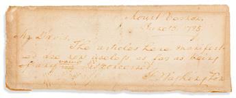 (PRESIDENTS--FAMOUS FORGERIES.) COSEY, JOSEPH. Two forgeries of autograph notes signed: George Washington * Abraham Lincoln.