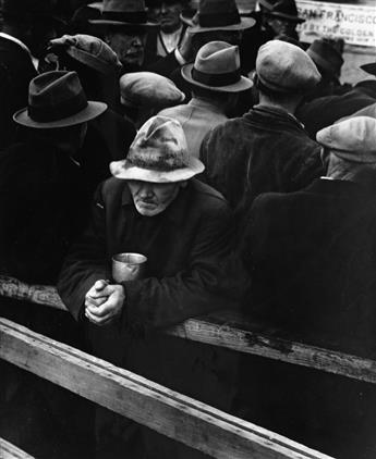 (DOROTHEA LANGE) (1895-1965) Group of 8 iconic photographs, comprising White Angel Breadline, Woman of the High Plains, Migrant Mother,