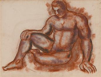 MARSDEN HARTLEY Seated Male Nude.