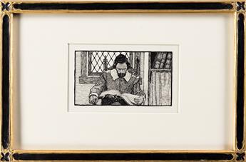 N.C. WYETH (1882-1945) Standish Reading / Heading Canto II. [HENRY WADSWORTH LONGFELLOW]