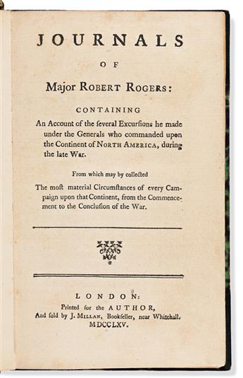 Rogers, Robert, Major (1731-1795) Journals of Majo