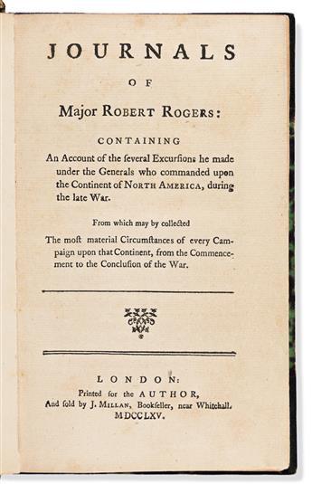 Rogers, Robert, Major (1731-1795) Journals of Majo