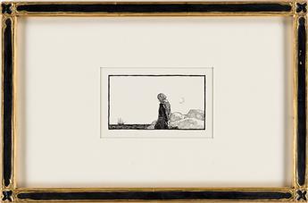 N.C. WYETH (1882-1945) Captain John Alden / Heading Canto IV.  [HENRY WADSWORTH LONGFELLOW]