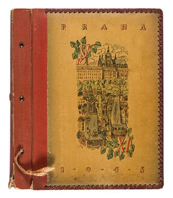 (GYMNASTICS--CZECHOSLOVAKIA) An album documenting the Sokol Slet XI in Prague.
