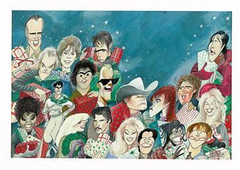(CARICATURE.)  AL HIRSCHFELD. Lorimar Christmas.