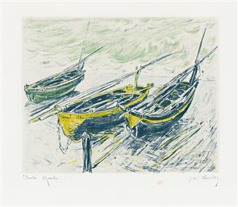 CLAUDE MONET and GEORGE W. THORNLEY Trois Barques sur la Grève.