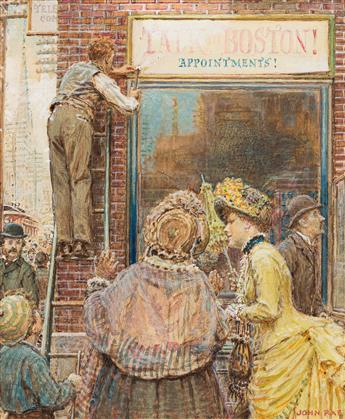 JOHN RAE (1882-1963) Talk to Boston.