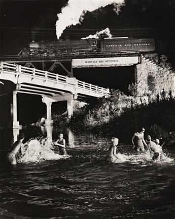 O. WINSTON LINK (1914-2001) Hawksbill Creek Swimming Hole, Luray, Virginia * Hester Fringer's Living Room on the Tracks, Lithia, V.A.