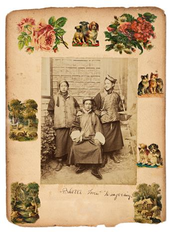 (INDIA) An album with 26 photographs, including scenes from Calcutta [Kolkata], Delhi, and Darjeeling.