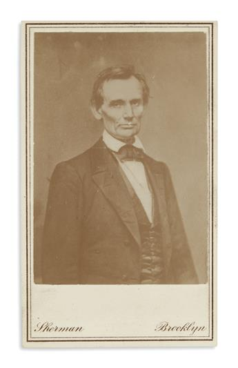 (PHOTOGRAPHY)-Large-group-of-47-cartes-de-visite-of-Lincoln