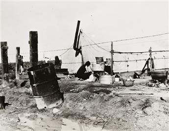 DOROTHEA LANGE (1895-1965) Drought Refugee Family, Oklahoma.