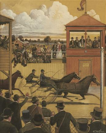 EGBERT NORMAN CLARK. Utica, N.Y. Race Track * New