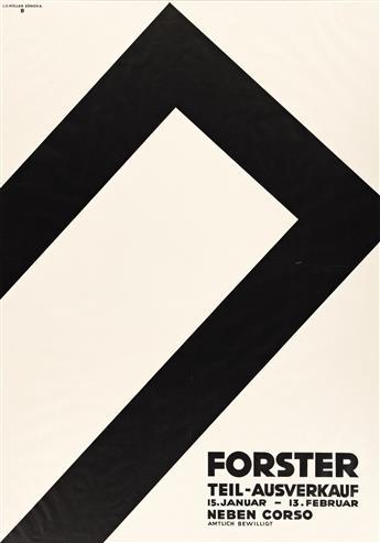 OTTO BAUMBERGER (1889-1961).  FORSTER / TEIL - AUSVERKAUF. 1930. 50¼x35½ inches, 127½x90¼ cm. J.C. Müller, Zurich.