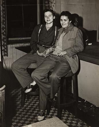 WEEGEE [ARTHUR FELLIG] (1899-1968) Women at the bar.